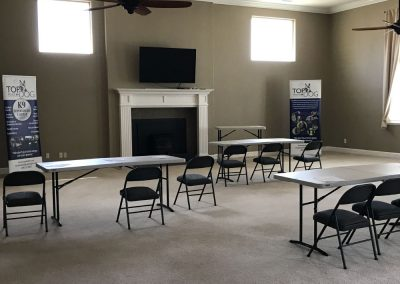 Top Dog Police K9 Training Center with Living Accommodations - training classroom